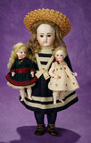 German Bisque Closed Mouth Doll by Kestner in Mariner Costume 1100/1400