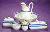 German Porcelain Wash Bowl and Pitcher Set 300/400