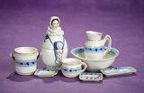 Petite German Porcelain Wash Set and Unusual Trinket Jar 300/400