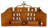 Unusual Wooden Doll Room as Apothecary with Rare Symbol Markings 2500/3200