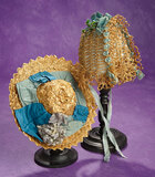 Two Beautiful French Antique Doll Bonnets 400/600