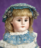 Early German Bisque Child, 979, by Simon and Halbig with Original Early Body 1100/1300