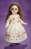 German Bisque Doll with Unusual Markings and Rare Laced Boots 600/800