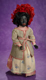 Extremely Rare French Black-Complexioned Lady Doll with Character Face 3500/4500