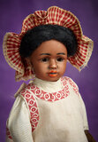 German Brown-Complexioned Bisque Doll, 1358, by Simon and Halbig 800/1100