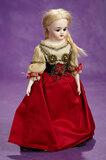 Petite German Bisque Doll, Model 950, Simon & Halbig, Original Folklore Costume 300/500