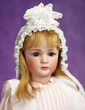 Beautiful and Rare German Bisque Closed Mouth Child, 1448, Simon and Halbig 2800/3500