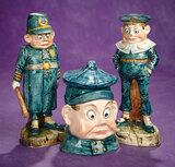 Three Softpaste Figures Depicting Brownies from Palmer Cox Series 400/500