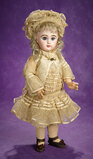 French Bisque Bebe by Emile Jumeau, Satin and Lace Costume, Signed Shoes 2900/3700