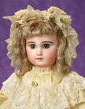 Lovely French Bisque Blue-Eyed Bebe by Emile Jumeau 3500/4200