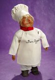 French Poured Wax Character as Chef in Original Costume 800/1200