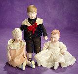American Bisque Portrait Dolls of Charles, Anne, Caroline by Martha Thompson 900/1100