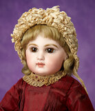 French Brown-Eyed Bisque Bebe E.J. by Emile Jumeau in Early Costume 3200/3800