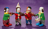 German Mechanical Tin Toy Monkey Band by Schuco 400/500