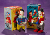 Two German Mechanical Clowns by Schuco in Original Boxes 300/500