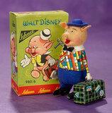 German Mechanical Pig from Walt Disney by Schuco, Original Box 300/400