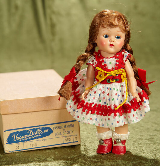 "8"" Red-Haired Braided Painted Lash Ginny as ""Tina"", ""Kindergarten"" Series,Orig Box, 1952. $400/500"
