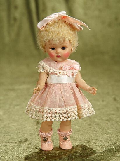"8"" Blonde Poodle-Cut Painted Lash Ginny as ""April"",Kindergarten Series,Original Box,1952. $300/400"