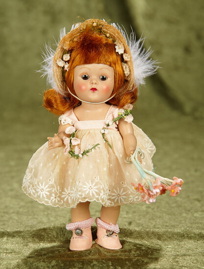 "8"" Red-Haired Painted Lash Ginny as ""Pamela"", Debutante Series in Pink Costume, 1953. $300/500"