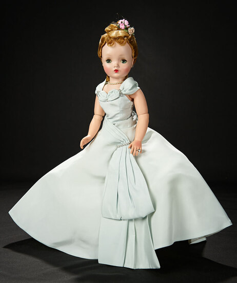 Cissy in Pale Blue Taffeta Gown, Rare Color Variation, from Fashion Parade Series, 1956 $1200/1700