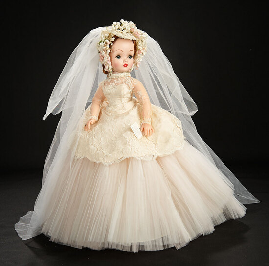 "Magnificent Cissy as ""Forever Darling"" Bride with Rare Original Wrist Tag, 1956 7500/9500"