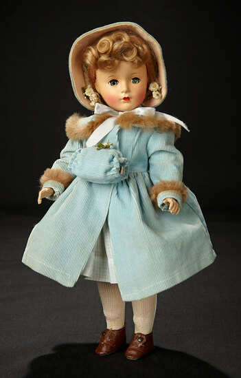 McGuffey Ana in Blue Corduroy Coat with Brown Fur Trim, 1951 1200/1500