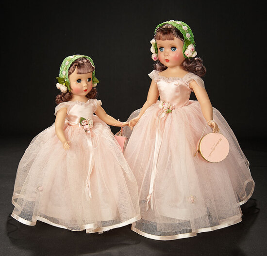 "Petite ""Rosamund Bridesmaid"" in Rose Taffeta with Fashion Award, 1953 600/800"