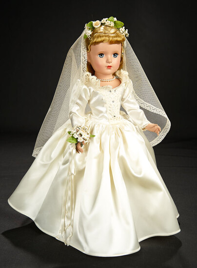 """""""Everybody Loves A Bride"""" in Ivory Satin, 1952 700/900"""