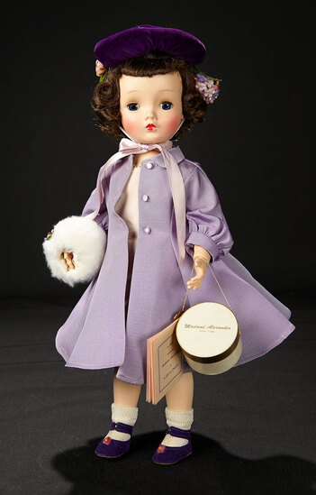 """""""Sweet Violet"""" in Lilac Costume with Accessories, 1954 1100/1400"""