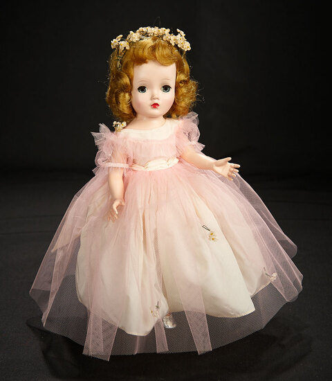 Binnie Bridesmaid in Pink Tulle with Silver Slippers, 1955 600/800