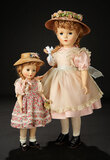 McGuffey Ana in Pink Cotton Dress and Pinafore, 1951 900/1100