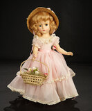 Wendy-Ann in Sheer Rose Nylon Gown with Basket of Flowers, 1950 500/700