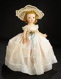 Binnie Walker Bridesmaid in White Organdy Gown, 1954 600/900