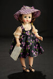 Lissy in Violet-Patterned Pinafore Dress with Purple Bonnet, 1957 400/500