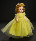 Binnie Bridesmaid in Chartreuse Tulle with Silver Slippers, 1955 500/800