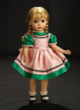 Binnie in Polished Green School Dress with Pinafore Front, 1954 400/600