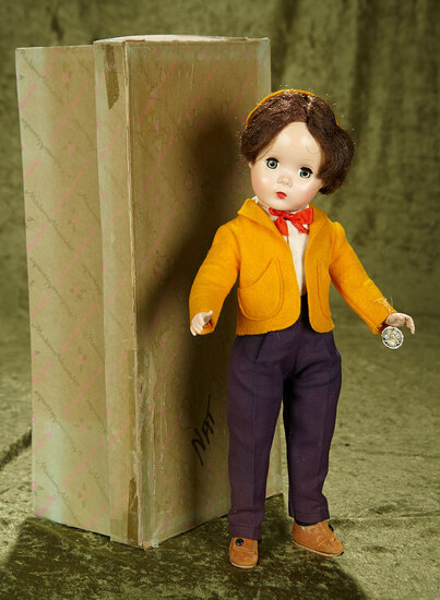 "14"" Rare Madame Alexander ""Nat"" from The Little Men Series in original box."