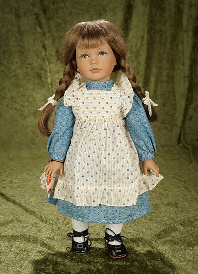 "20"" Vintage vinyl Swiss artist doll by Heidi Ott with wrist tag."