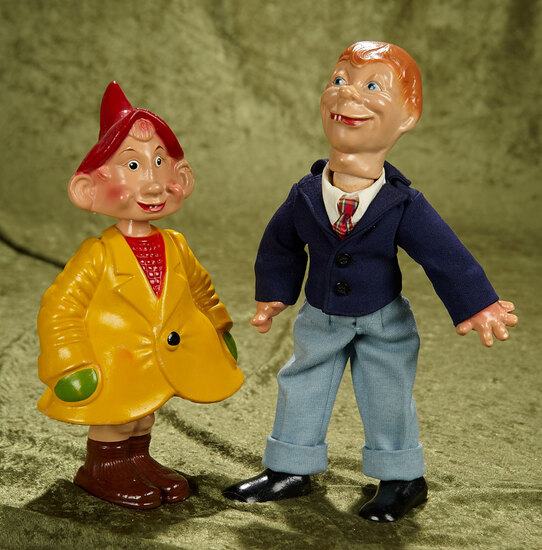Two American composition dolls, Danny Dimwit and Mortimer Snerd. $400/500