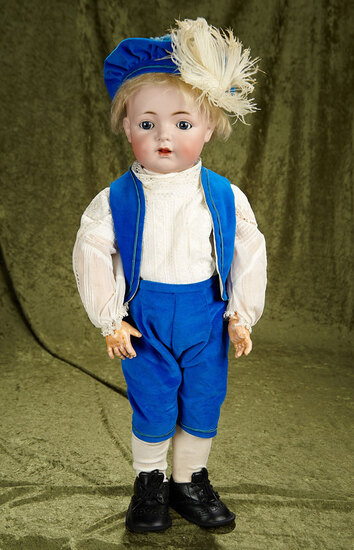 """27"""" German bisque character, 121, by Kammer and Reinhardt, toddler body. $700/900"""
