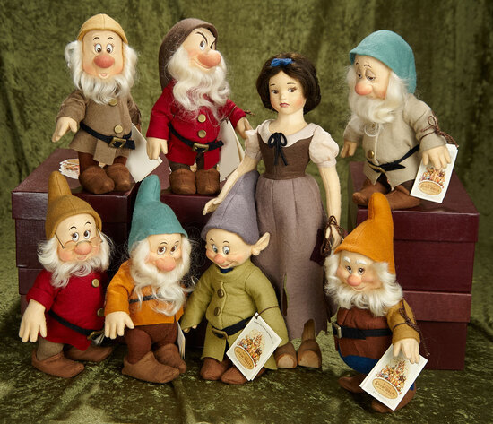 Complete Set of Snow White and Seven Dwarves by R. John Wright. $1400/1700