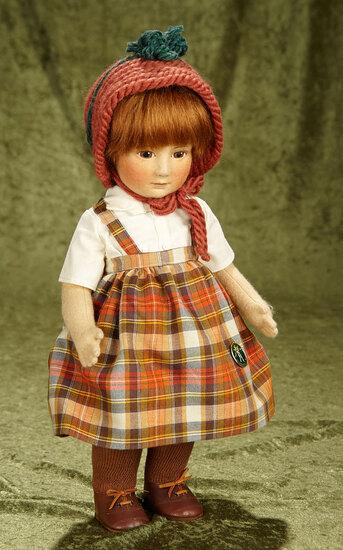 "17"" American felt character ""Lillian"" by R. John Wright with original box. $800/1100"