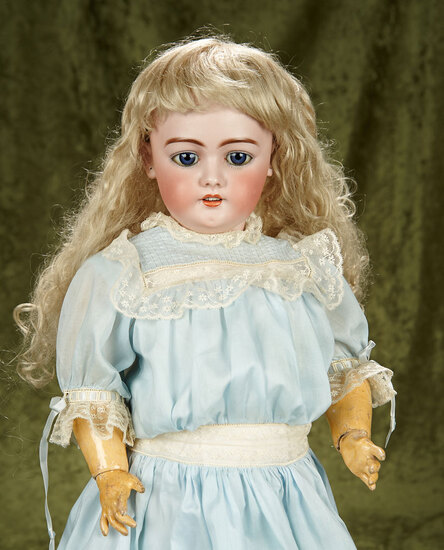 """28"""" German bisque child doll, model 1079, by Simon & Halbig. $400/500"""