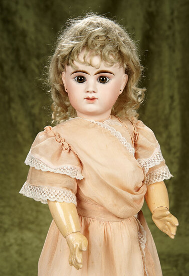 """24"""" French bisque closed mouth bebe by Denamur with beautiful eyes. $2800/3200"""