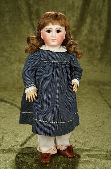 """16"""" Sonneberg bisque closed mouth doll, model 136, for the French market. $900/1100"""