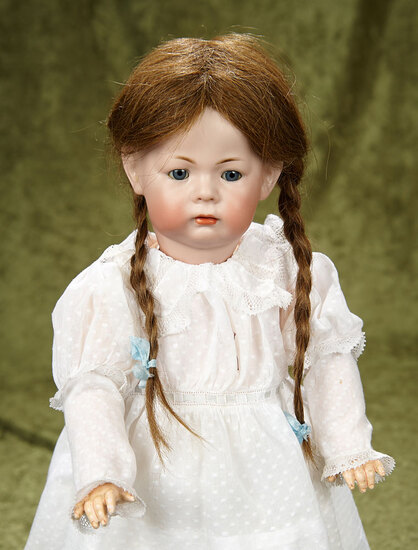 """17"""" German bisque pouty-faced character, 115 A """"Phillip"""", Kammer and Reinhardt. $1200/1500"""