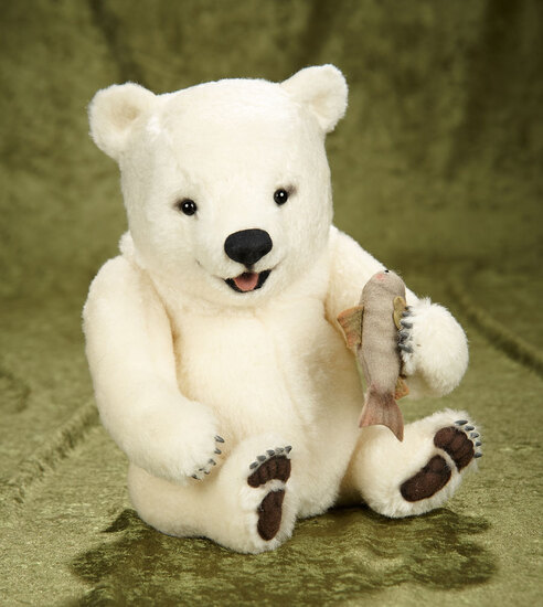 """12"""" White polar bear """"Nippy"""" from the Baby Bear Collection, R. John Wright. $700/900"""