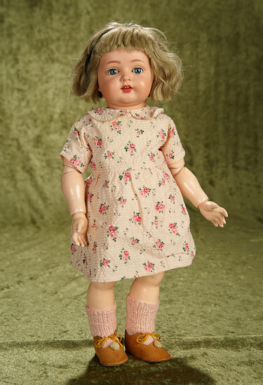 """16"""" All original German celluloid character toddler, model 726 by Kammer and Reinhardt. $300/400"""