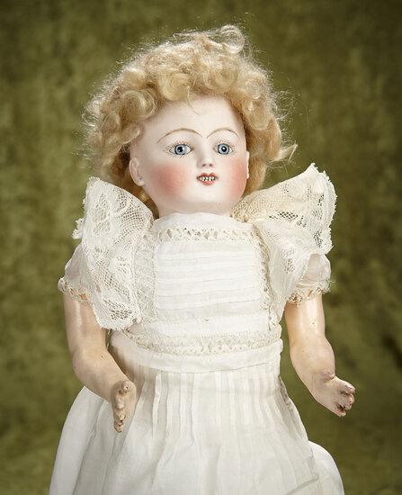 """18"""" French bisque Bebe Steiner Gigoteur by Jules Steiner, antique costume. $1400/1700"""