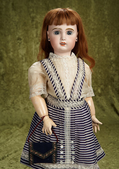 """23"""" French bisque Bebe Jumeau with original body, signed French shoes. $900/1200"""